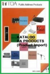 Katalog PA Product TOA Import